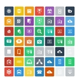 Set of 49 Universal Icons Business internet web vector image