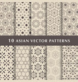 arabic luxury patterns pack vector image