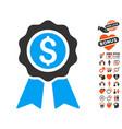 business award icon with love bonus vector image