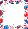 colorful border for american holiday traditional vector image