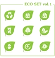 ecology icon set Vol 1 vector image