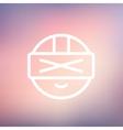 Futuristic headset thin line icon vector image