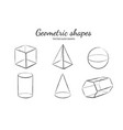 geometric shapes set 3 vector image