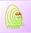 toothy cartoon monster centipede vector image