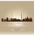 Dublin Ireland skyline city silhouette vector image