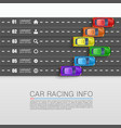 car racing info art cover vector image