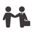 businessmen with suit and briefcase vector image