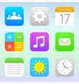 Trendy icons set vector image