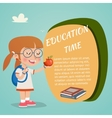 Colored Education Poster vector image vector image