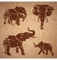 Elephants on a rock vector image