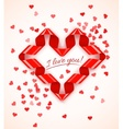 Heart symbol frame of red vector image