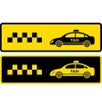 two black and yellow taxi icons vector image vector image