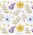 floral wallpaper print vector image