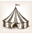 Circus tent hand drawn sketch vector image
