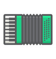 accordion filled outline icon music vector image