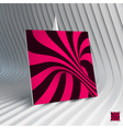 Business card Abstract mosaic background 3d vector image
