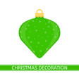 christmas tree decoration isolated vector image