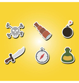color icons with pirate symbol vector image
