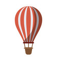 colorful silhouette of hot air balloon without vector image