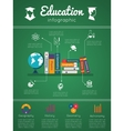 Education and textbooks infographics vector image