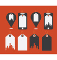 Flat design modern icons of uban shopping vector image