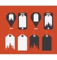 Flat design modern icons of uban shopping vector image
