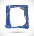 grunge blue shabby frame vector image