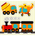 icon set transport vector image