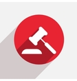 modern courthouse red circle icon vector image