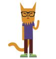 Orange cat character vector image