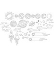 space graphics outline vector image