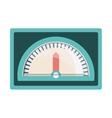 speedometer device icon vector image