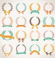 Vintage set of laurel wreaths vector image