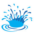 water drop art vector image