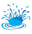 Water drop art vector image