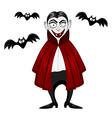 Vampire for Halloween vector image