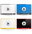 Video Player Templates vector image