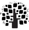 Stylized black tree vector image