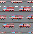 fire truck car seamless vector image