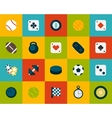 Flat icons set 12 vector image vector image
