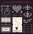 calligraphic elements vintage set holiday patterns vector image vector image