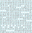binary code doodle vector image vector image