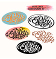 Calligraphic hand drawn watercolor lettering vector image