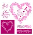flower frame heart 2 380 vector image