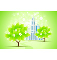 Green Trees and City vector image vector image