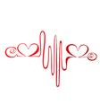Heartbeat or cardiogram logo vector image vector image