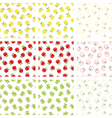 apple seamless patterns vector image