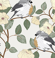Birds seamless pattern vector image