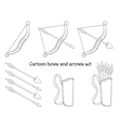 Cartoon bows and arrows vector image
