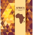 Colorful mosaic Africa background vector image